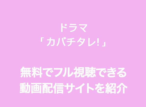 カバチタレ,動画